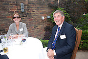 BABA HOBART; ROBERT HOBART, Archant Summer party. Kensington Roof Gardens. London. 7 July 2010. -DO NOT ARCHIVE-© Copyright Photograph by Dafydd Jones. 248 Clapham Rd. London SW9 0PZ. Tel 0207 820 0771. www.dafjones.com.