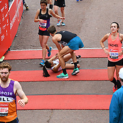 London, England, UK. 28 April 2019. Virgin Money London Marathon - Finishline at Pall Mall.