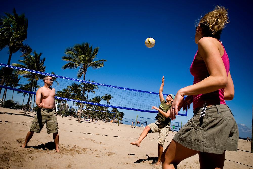 Travel story about Fort Lauderdale, Florida.Beach volleyball..Photographer: Chris Maluszynski /MOMENT
