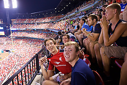 ST. LOUIS, USA - Monday, August 1, 2016: Liverpool supporters watch their side take on AS Roma during a pre-season friendly game on day twelve of the club's USA Pre-season Tour at the Busch Stadium. (Pic by Concepcion Valadez/Propaganda)