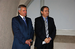 Left to right, VAGIT ALEKPEROV President of Lukoil and MR VALERY RODICHIN Cultual Attache from the Russian Embassy at 'Britannia & Muscovy English Silver at The Court of The Tsars' exhibition opening at the Gilbert Collection, Somerset House, London on 20th October 2006<br /><br />NON EXCLUSIVE - WORLD RIGHTS