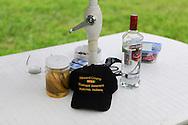 still life hat vodka, Blue Goose Brigade area, Kokomo Indiana Vietnam Veterans Reunion 2012