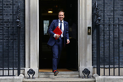© Licensed to London News Pictures. 17/07/2018. London, UK. Secretary of State for Health and Social Care Matt Hancock leaves 10 Downing Street after the Cabinet meeting. Photo credit: Rob Pinney/LNP