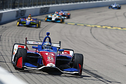 July 8, 2018 - Newton, Iowa, United States of America - TONY KANAAN (14) of Brazil battles for position during the Iowa Corn 300 at Iowa Speedway in Newton, Iowa. (Credit Image: © Justin R. Noe Asp Inc/ASP via ZUMA Wire)