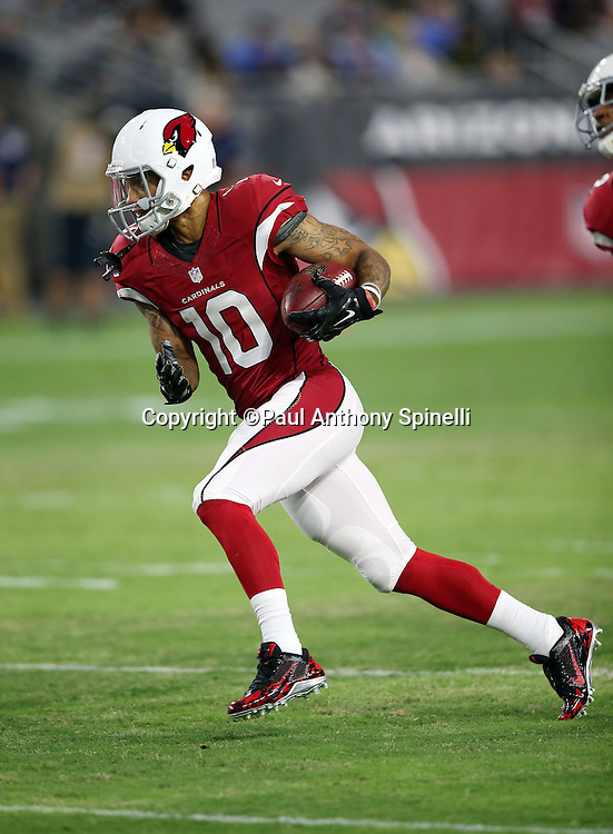 Arizona Cardinals wide receiver Brittan Golden (10) goes out for a pass during the 2015 NFL preseason football game against the San Diego Chargers on Saturday, Aug. 22, 2015 in Glendale, Ariz. The Chargers won the game 22-19. (©Paul Anthony Spinelli)