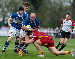 Bishop's Stortford v Cambridge - National Div 1, Silver Leys, Bishop's Stortford, UK on 21 April 2018. Photo: Simon Parker
