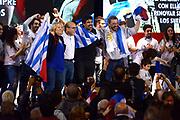 Los cuatro precandidatos a la Presidencia por el Frente Amplio fueron proclamados por el VII  Congreso. URUGUAY/ MONTEVIDEO Foto: Fernando Pena<br /> En la foto: Carolina Cosse, Daniel Mart&iacute;nez, OscarAndrade y Mario Bergara en la proclamaci&oacute;n de los precandidatos a la Presidencia por el Frente Amplio. Foto: Fernando Pena / adhocFOTOS