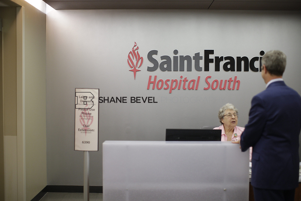 8/9/17 1:49:10 PM -- Photos of Saint Francis South employees and David Weil. <br /> <br /> Photo by Shane Bevel