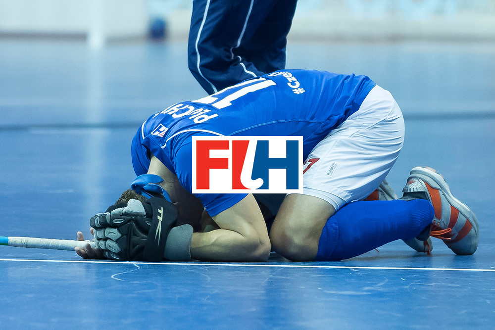 Hockey, Seizoen 2017-2018, 09-02-2018, Berlijn,  Max-Schmelling Halle, WK Zaalhockey 2018 MEN, Iran - Czech Republic 2-2 Iran Wins after shoutouts, Lukas Plochy.