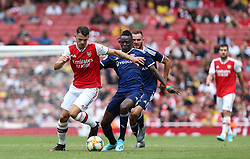 Granit Xhaka of Arsenal on the ball - Mandatory by-line: Arron Gent/JMP - 28/07/2019 - FOOTBALL - Emirates Stadium - London, England - Arsenal v Olympique Lyonnais - Emirates Cup