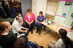 The Princess Alexandra Hospital, Harlow, Nursing & Midwifery Celebration Day - training and information, UK. Breast cancer information