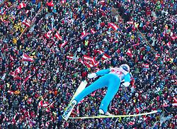 03.01.2011, Bergisel, Innsbruck, AUT, Vierschanzentournee, Innsbruck, 1. Wertungsdurchgang, im Bild // Schlierenzauer Gregor (AUT) über den Zuschauern am Bergisel// during the 59th Four Hills Tournament First Jump in Innsbruck, EXPA Pictures © 2011, PhotoCredit: EXPA/ J. Feichter
