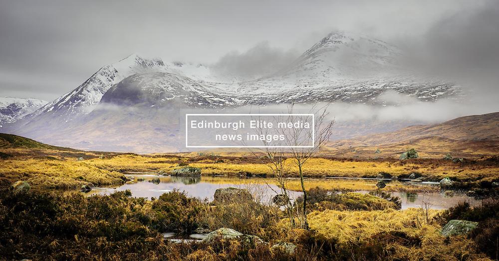 Snow covered mountains on the edge of Rannoch Moor near Glencoe, Scotland<br /> <br /> (c) Andrew Wilson | Edinburgh Elite media