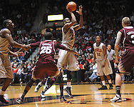 "Ole Miss' LaDarius White (10) vs. Mississippi State at the C.M. ""Tad"" Smith Coliseum on Wednesday, February 6, 2013. (AP Photo/Oxford Eagle, Bruce Newman).."