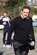 AFC Wimbledon manager Neal Ardley and AFC Wimbledon defender Paul Robinson (6) ariving during the EFL Sky Bet League 1 match between AFC Wimbledon and Bristol Rovers at the Cherry Red Records Stadium, Kingston, England on 17 February 2018. Picture by Matthew Redman.