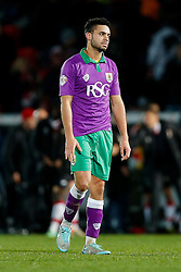 Greg Cunningham of Bristol City looks dejected after the match ends in a 1-1 draw meaning a Tuesday night replay next week - Photo mandatory by-line: Rogan Thomson/JMP - 07966 386802 - 03/01/2015 - SPORT - FOOTBALL - Doncaster, England - Keepmoat Stadium - Doncaster Rovers v Bristol City - FA Cup Third Round Proper.