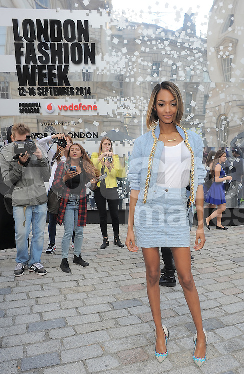 Model Jourdan Dunn at LFW S/S 2015  Somerset House in London, UK. 12/09/2014<br />