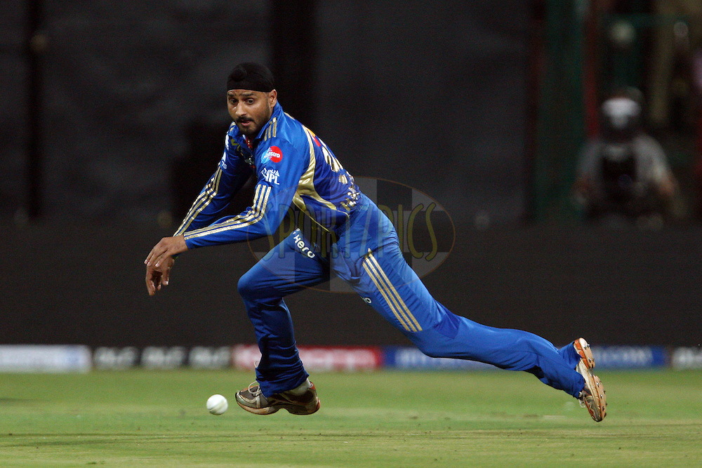 Harbhajan Singh during the IPL 2012 Season 5 eliminator match between The Mumbai Indians and The Chennai Superkings held at the M. Chinnaswamy Stadium, Bengaluru on the 23rd May 2012..Photo by Jacques Rossouw/IPL/SPORTZPICS