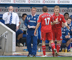 Reading, England - Saturday, April 7, 2007: Liverpool's Craig Bellamy is substituted by Dirk Kuyt against Reading during the Premier League match at the Madejski Stadium. (Pic by David Rawcliffe/Propaganda)