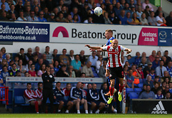 Dylan McGeouch of Sunderland and Danny Rowe of Ipswich Town challenge for a header - Mandatory by-line: Arron Gent/JMP - 10/08/2019 - FOOTBALL - Portman Road - Ipswich, England - Ipswich Town v Sunderland - Sky Bet League One