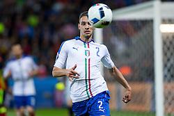 13-06-2016 FRA: UEFA EURO Belgie - Italie, Lyon<br /> België verliest met 2-0 van Italie / Mattia De Sciglio<br /> <br /> ***NETHERLANDS ONLY***