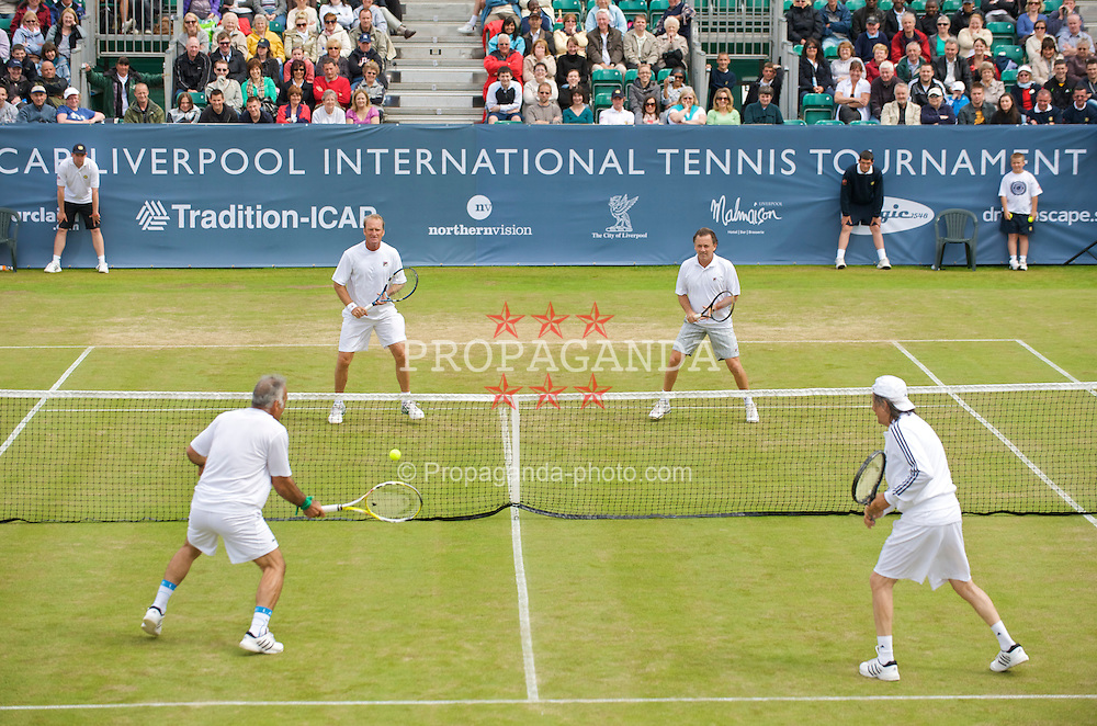 LIVERPOOL, ENGLAND - Sunday, June 21, 2009: The Legends' Doubles in action during Day Five of the Tradition ICAP Liverpool International Tennis Tournament 2009 at Calderstones Park. (Pic by David Rawcliffe/Propaganda)