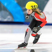 December 17, 2016 - Kearns, UT - Cristina Morelli skates during US Speedskating Short Track Junior Nationals and Winter Challenge Short Track Speed Skating competition at the Utah Olympic Oval.