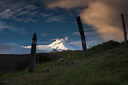 Sunrise on Cotopaxi Volcano, Ecuador, the second highest volcano in the world.
