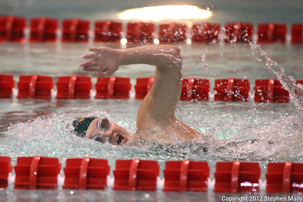 Kennedy's Katie Ferguson swims in the 500 yard freestyle event during the Kennedy at Washington meet at Washington High School in Cedar Rapids on Tuesday evening, October 2, 2012. Ferguson won with a time of 5:42.80.