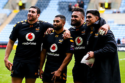 Jeff Toomaga-Allen, Lima Sopoaga, Sione Vailanu and Malakai Fekitoa of Wasps - Mandatory by-line: Robbie Stephenson/JMP - 12/10/2019 - RUGBY - Ricoh Arena - Coventry, England - Wasps v Worcester Warriors - Premiership Rugby Cup