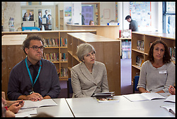 June 27, 2017 - London, London, United Kingdom - Image ©Licensed to i-Images Picture Agency. 27/06/2017. London, United Kingdom. Theresa May visits Orchard School. ..Theresa May visits Orchard School to meet with teachers receiving training in mental health support for pupils. Filton, Bristol. 27 June 2017  At the school in Henleaze May met teachers receiving training in mental health support for pupils...Picture by  i-Images / Pool (Credit Image: © i-Images via ZUMA Press)