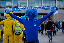 Coventry City fans poses outside Wembley in fancy dress - Photo mandatory by-line: Jason Brown/JMP -  02/04//2017 - SPORT - Football - London - Wembley Stadium - Coventry City v Oxford United - Checkatrade Trophy Final