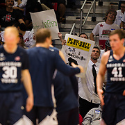 22 December 2018: The Show getting creative with their signs during the Aztecs 90-81 win over the Cougars Satruday afternoon at Viejas Arena.