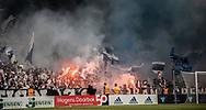 FC København-fans med romerlys under kampen i 3F Superligaen mellem FC København og AGF den 19. juli 2019 i Telia Parken (Foto: Claus Birch).