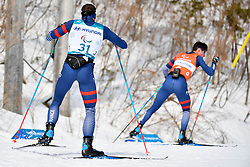 CLARION Thomas FRA B1 Guide: BOLLET Antoine competing in the ParaSkiDeFond, Para Nordic Skiing, 20km at  the PyeongChang2018 Winter Paralympic Games, South Korea.