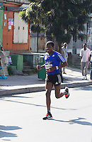 22/11/2015  repro fee.  A group of 25 from Gorta-Self Help Africa travelled to the capital of Ethiopia Addis Ababa for the great Ethiopian run which is Ethiopia's Haile Gebrselassie last race seen here running .  In temperatures in the mid 30 degree heat and 40,000 people and a city at 7,500 feet above sea level, it&rsquo;s no mean feat.   Photo:Andrew Downes <br /> <br /> <br /> Pics to be used with Gorta - Self Help Arica images only