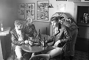 Group of Rockabillies in pub with jukebox, <br /> UK, 1080s.