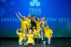 Ball boys during Slovenian Tennis personality of the year 2017 annual awards presented by Slovene Tennis Association Tenis Slovenija, on November 29, 2017 in Siti Teater, Ljubljana, Slovenia. Photo by Vid Ponikvar / Sportida