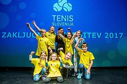 Ball boys during Slovenian Tennis personality of the year 2017 annual awards presented by Slovene Tennis Association Tenis Slovenija, on November 29, 2017 in Siti Teater, Ljubljana, Slovenia. Photo by Vid Ponikvar / Sportida
