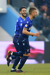 "Foto Filippo Rubin<br /> 06/01/2018 Ferrara (Italia)<br /> Sport Calcio<br /> Spal - Lazio - Campionato di calcio Serie A 2017/2018 - Stadio ""Paolo Mazza""<br /> Nella foto: GOAL CIRO IMMOBILE (LAZIO)<br /> <br /> Photo by Filippo Rubin<br /> January 06, 2018 Ferrara (Italy)<br /> Sport Soccer<br /> Spal vs Lazio - Italian Football Championship League A 2017/2018 - ""Paolo Mazza"" Stadium <br /> In the pic: GOAL CIRO IMMOBILE (LAZIO)"