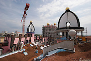 """The """"Gru?ne Zitadelle von Magdeburg"""" (Green Citadel of Magdeburg), the last housing project by Austrian artist and architect Friedensreich Hundertwasser, in the final stages of construction. To be opened on October 3, 2005."""
