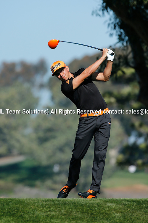 February 7, 2015: Rickie Fowler during the third round of the Farmers Insurance Open at Torrey Pines in La Jolla, CA.