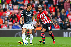Jack Cork of Burnley is marked by Mario Lemina of Southampton - Mandatory by-line: Ryan Hiscott/JMP - 12/08/2018 - FOOTBALL - St Mary's Stadium - Southampton, England - Southampton v Burnley - Premier League