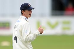 Will Tavare of Gloucestershire sticks his thumb up - Mandatory byline: Dougie Allward/JMP - 07966386802 - 22/09/2015 - Cricket - County Ground -Bristol,England - Gloucestershire CCC v Glamorgan CCC - LV=County Championship