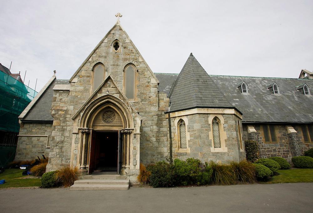 Christ's College Chapel, Christchurch, New Zealand, Sunday, October 02, 2011.  Credit:SNPA / Pam Johnson