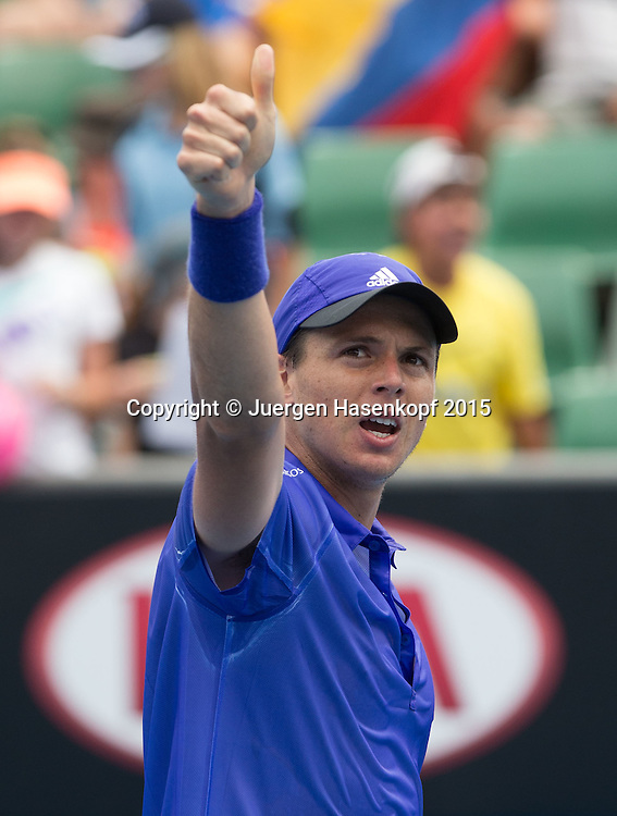 Alejandro Gonzalez (COL)<br /> <br />  - Australian Open 2015 -  -  Melbourne Park Tennis Centre - Melbourne - Victoria - Australia  - 20 January 2015. <br /> &copy; Juergen Hasenkopf