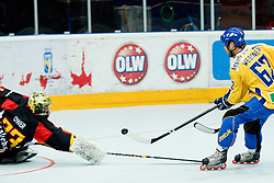 Daniel Wessner of Sweden vs. Thomas Ower at IIHF In-Line Hockey World Championships Quarter final match between national teams of Sweden and Germany on July 1, 2010, in Karlstad, Sweden. (Photo by Matic Klansek Velej / Sportida)