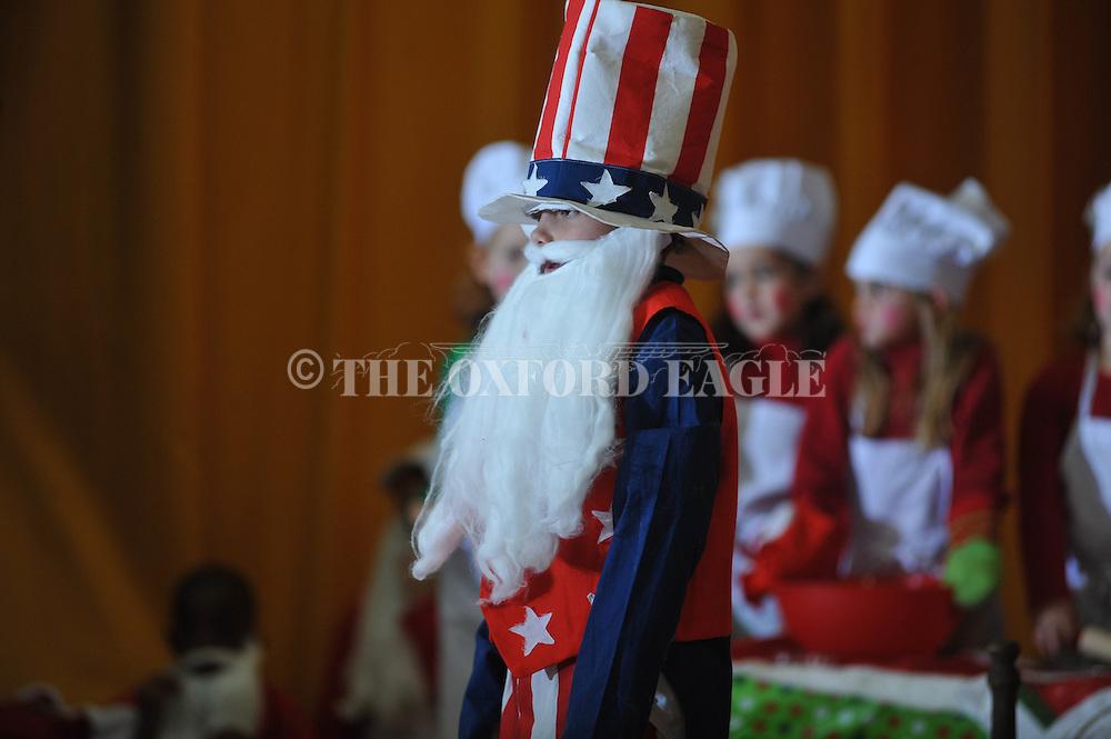 "Grey Hooper is Uncle Sam Santa during the Bramlett Elementary play ""That's Not Santa"" in Oxford, Miss. on Wednesday, December 19, 2012."
