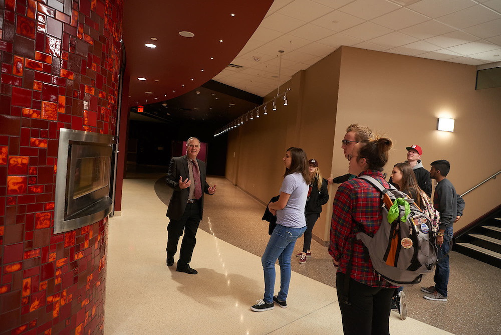 Location; Inside; People; Student Students; Type of Photography; Candid; Student Center Tour Larry Ringgenberg