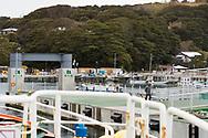 Till &ouml;n Tashirojima i Japan kan man bara &aring;ka med en mindre f&auml;rja.<br />  <br /> Tashirojima kallas f&ouml;r &quot;katt&ouml;n&quot; eftersom h&auml;r lever hundratals katter tillsammans med ca 50 personer.   <br /> <br /> Ishinomaki, Miyagi Prefecture, Japan. <br /> <br /> Fotograf: Christina Sj&ouml;gren<br /> Copyright 2018, All Rights Reserved